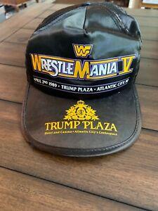 WWF Wrestlemania V 5 Original Hat Cap Trump Plaza Very Rare Hogan Vs Macho Man
