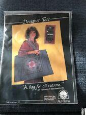 New 1986 Judy Bishop Designer Tote Organizer Pattern for Needlework Art Sewing