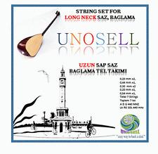 UNOS: STRING SET FOR TURKISH STRING INSTRUMENT LONG NECK SAZ  0.20MM