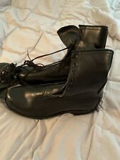 Vintage HB Black Leather Army Combat Boots Goodyear Soles Mens 9D Sept 1979