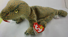 TY Scaly Original Beanie Baby Collection 1999 ECHSE DINOSAURIER Stofftier Neuw.