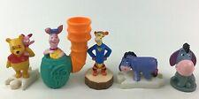Winnie The Pooh Toy Figures Piglet Eeyore Tigger 5pc Lot Disney Mcdonald's