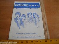 Beatlefan 1987 The Beatles magazine V9 #4 Harrison Paul McCartney Sgt. Pepper