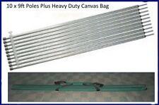 10 x 9ft 274cm Tarp Tent Poles & Pole Bag Heavy Duty Best Seller Aussie Tough