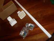 "Vintage White Gloss finish Porcelain Towel Bar Brackets 24"" pole MCM ART DECO"