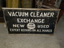 Vintage 1940s Wooden & Tin Sign Red Lion York Co. Pa Vaccum Repair Ph#33218 2x