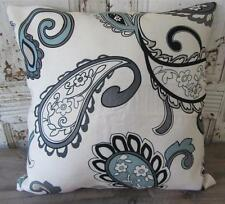 Beautiful Paisley Grey/Black/Blue/Brown Cushion Cover 45cm