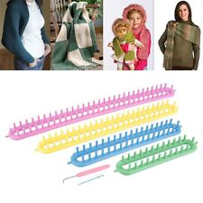 Set of 4 Long Knitting Knitter Looms Ring Craft Kit Sock Scarf Hat Clothes Maker