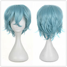Short Pastel Blue Natural Pixie Cropped Hair Wig Disney Cosplay Celebrity Wigs