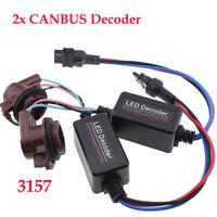 2Pcs LED 3157 T25 Car Light Dash Canbus Error Free Anti Flicker Resistor Decoder