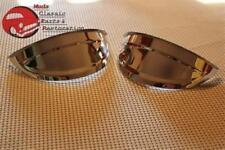 """Headlight Headlamp Visors Pair 7"""" Heavy Duty Chrome Shields Trim Caps Custom Car"""