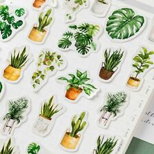 45pcs/box Potted Plant Stickers Sealing Diary Label Sticker for Scrapbooking DIY