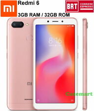 Xiaomi Redmi 6 32GB LTE Dual SIM 3GB RAM Smartphone Sbloccato AI Globale Rosa