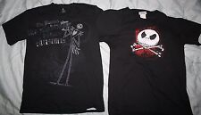 Disney Tim Burton The Nightmare Before Christmas T-SHIRT SMALL LOT OF 2! movie