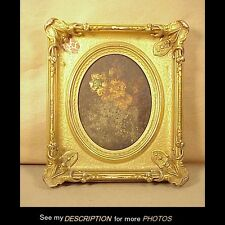Antique Victoria Rococo Gold Leaf Picture Frame Artwork Painting Mirror