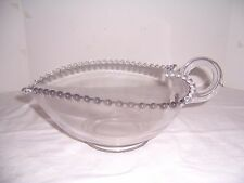 "Vntg Candlewick Lrg 9"" Heart-Shaped Serving Bowl Handled Elegant Imperial Glass"