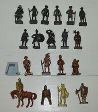 Lot de figurines personnages soldats indien métal KINDER vintage