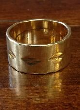 Vintage 14K Wide Yellow Gold Band 9.5MM