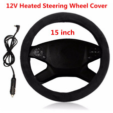 15 inch Car Lighter Plug Heated Electric Steering Wheel Cover Winter Warmer 12V