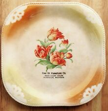 1900s - 1920s MUSKEGON, MI, PINE STREET FURNITURE STORE SQUARE ADVERTISING PLATE