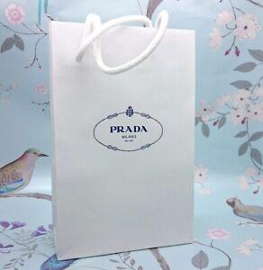 BN 2 x Prada Milano Dal 1913 White Paper & Double Rope Handles Small Gift Bag