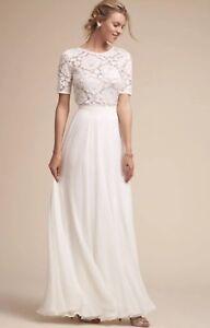 NEW $220 BHLDN Hamptons Skirt Size 6 Winter White Bridal Jenny Yoo