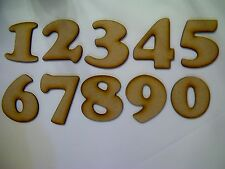 Set of 12 Laser Cut Wooden Numbers 3mm Thick MDF 1 to 12 30mm High
