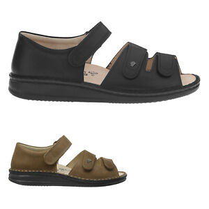 Finn Comfort Baltrum Leather Comfortable Ankle-Strap Womens Sandals