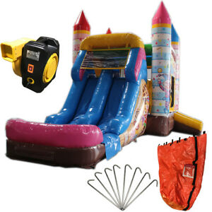 28ft Candy Clown Wet/Dry Commercial Inflatable Bounce House Water Slide Combo