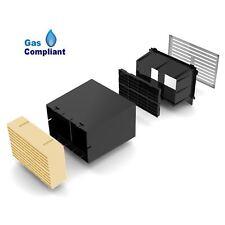 "9"" x 6"" Extendable Cavity Wall Sleeve Vent with Buff Air Brick Ventilator"