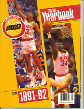 Houston Rockets 1991-92 Official Yearbook ~ New
