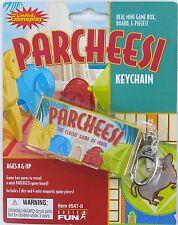 PARCHEESI Game Keychain Keyring Pachesi Ludo India Basic Fun Hasbro Retired Mini