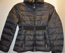 Girls Moncler Black Down Puffer Jacket Size 10/140 cm