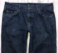 Mens HUGO BOSS Kansas Jeans W34 L32 Blue Regular Straight Fit