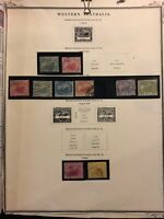 WESTERN AUSTRALIA STAMPS 1885-1889 USED. H SHEET OLD COLLECTION. 2 Sheets