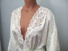 #102 Vtg VICTORIA SECRET Bridal 80's Gold Label Ivory Sequin Jacquard Robe