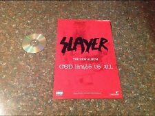 2-sided SLAYER Promo album Poster metal. cd dvd vintage music rock