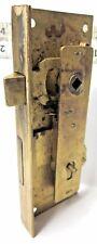 1 Vintage Corbin Brass Mortise Furniture Lock Works No Key Right Hand Door Side