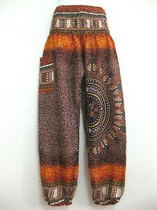 Ladies Harem Pants Baggy Bohemian Boho Hippie Aladdin Yoga Genie Trousers HSD