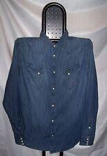 WRANGLER denim shirt Camicia Jeans Regular Indigo TgXXL