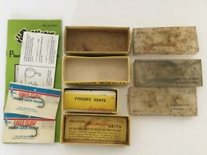 VTG LOT FRED ARBOGAST LURE BOXES EMPTY NOS EAGLE LUCKY HOOKS MISTER TWISTER