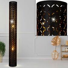 Design Stand Steh Lampe Ring Stanzungen Wohn Zimmer Decken Fluter schwarz gold