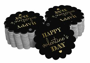 Real Foil Bottle Tag Happy Valentine's Day Valentine Craft Tags-SH3_23BG