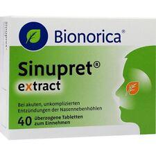 SINUPRET extract überzogene Tabletten   40 st   PZN 9285547