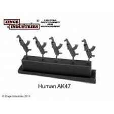 Zinge Industries FANTERIA dell'uomo Rifle AK47 Set di 5 FUCILI S-GAR03 NUOVA SCALA 28 mm