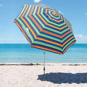 Tommy Bahama, 8-ft Canopy Dia. Tilting Beach Umbrella (Choose Color)