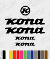 KONA Die-cut Decal Sticker sheet (cycling, mtb, bmx, bike, frame) - V1