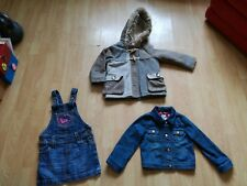 GIRLS NEXT COAT AGE 4 ROXY DENIM DRESS 4-5 DENIM JACKET DOTTY ABOUT BAKER
