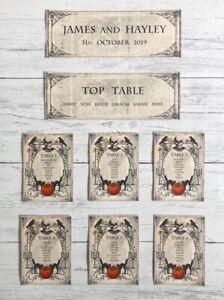 Halloween Wedding Table Plan Cards Seating Planner 🎃