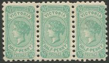 Victoria: 1912 (SG.461; BW.V32) ½d Bluish-Green EMERGENCY PRINTING wmk